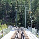Schweizer-Eisenbahnen - Bahnhof Morteratsch