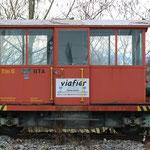 August 2019: Schienentraktor Tm 6.  (Aufnahme vom Februar 2019.)