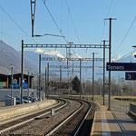 Schweizer-Eisenbahnen - Bahnhof Tenero