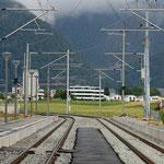 Schweizer-Eisenbahnen - Bahnhof Rhäzüns