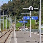 Schweizer-Eisenbahnen - Bahnhof Brunnadern-Neckertal