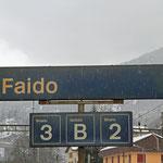 Schweizer-Eisenbahnen - Bahnhof Faido