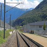 Schweizer-Eisenbahnen - Bahnhof Eyholz