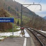 Schweizer-Eisenbahnen - Bahnhof Linthal Braunwaldbahn