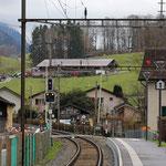 Schweizer-Eisenbahnen - Bahnhof Mitlödi
