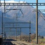 Schweizer- Eisenbahnen Bahnhof San Antonino