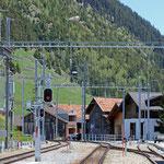 Schweizer-Eisenbahnen - Bahnhof Sedrun