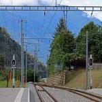 Schweizer-Eisenbahnen - Bahnhof Mörel