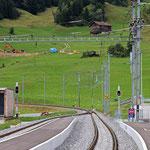 Schweizer-Eisenbahnen - Bahnhof Segnas