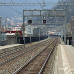 Schweizer-Eisenbahnen - Bahnhof Lamone-Cadempino