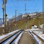 Schweizer-Eisenbahnen - Bahnhof Saas