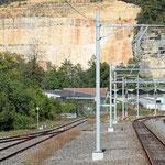 Schweizer-Eisenbahnen - Bahnhof Liesberg