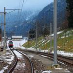 Schweizer-Eisenbahnen - Bahnhof Linthal