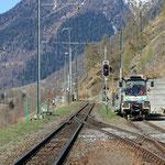 Schweizer-Eisenbahnen - Bahnhof Guarda