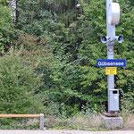 Schweizer-Eisenbahnen - Bahnhof Gübsensee