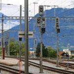 Schweizer-Eisenbahnen Bahnhof Thusis