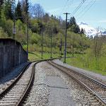 Schweizer-Eisenbahnen - Bahnhof Valendas-Sagogn