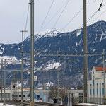 Schweizer-Eisenbahnen Bahnhof Trübbach