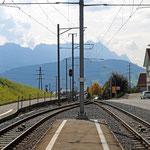 Schweizer- Eisenbahnen Bahnhof Sammelplatz