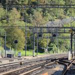Schweizer-Eisenbahnen - Bahnhof Amsteg-Silenen