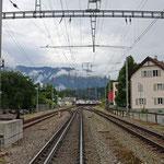 Schweizer-Eisenbahnen Bahnhof Domat/Ems