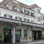 Schweizer-Eisenbahnen - Bahnhof Interlaken West