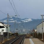 Schweizer-Eisenbahnen - Bahnhof Benken