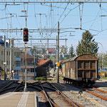 Schweizer-Eisenbahnen - Bahnhof Samstagern