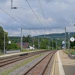 Schweizer-Eisenbahnen - Bahnhof Dachsen