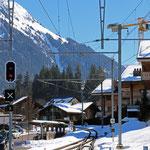 Schweizer-Eisenbahnen - Bahnhof Gstaad
