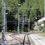 Schweizer-Eisenbahnen Bahnhof Morteratsch