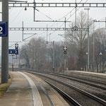 Schweizer-Eisenbahnen Bahnhof Maienfeld