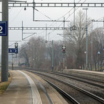 Schweizer-Eisenbahnen - Bahnhof Maienfeld