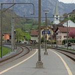 Schweizer-Eisenbahnen - Bahnhof Mols