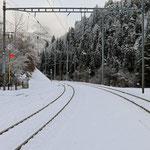Schweizer-Eisenbahnen - Bahnhof Trin