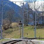 Schweizer-Eisenbahnen - Bahnhof Peist