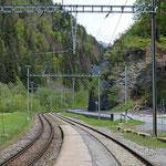 Schweizer-Eisenbahnen - Bahnhof Fideris