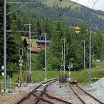 Schweizer-Eisenbahnen - Bahnhof Davos Glaris