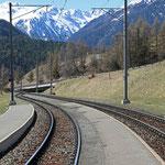 Schweizer-Eisenbahnen - Bahnhof Lavin