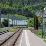 Schweizer-Eisenbahnen - Bahnhof Mammern