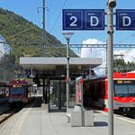 Schweizer-Eisenbahnen Bahnhof Visp