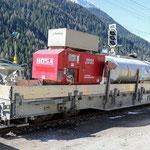 Schweizer-Eisenbahnen RhB Güterwagen Xae-t 93108.