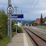 Schweizer-Eisenbahnen - Bahnhof Hallwil