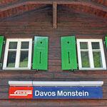 Schweizer-Eisenbahnen - Bahnhof Davos Monstein