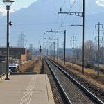 Schweizer-Eisenbahnen - Bahnhof Riazzino