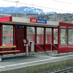 Schweizer-Eisenbahnen - Bahnhof EMS Werk