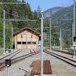 Schweizer-Eisenbahnen - Bahnhof Le Châtelard-Frontière