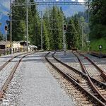 Schweizer-Eisenbahnen - Bahnhof Davos Laret
