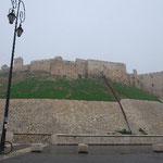 これがアレッポ城。かなりの大きさ。江戸城くらいありそう。