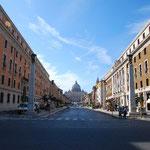 サン・ピエトロ大聖堂が見えてきました!